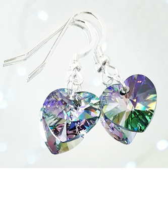 14mm Crystal Hearts