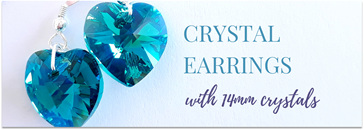 14mm Swarovski Crystal Heart Earrings