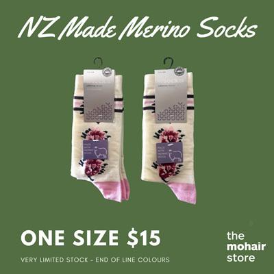 $15 Merino Socks - Flower