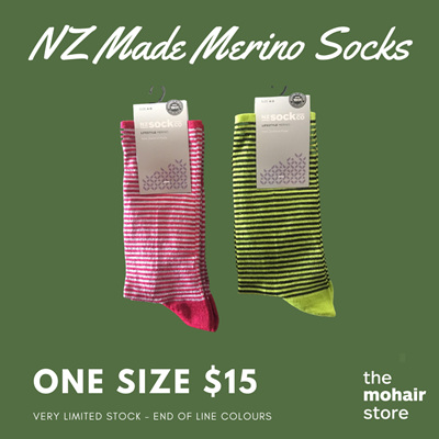 $15 Merino Socks - Thin Stripe