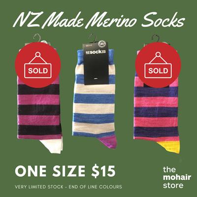 $15 Merino Socks - Wide Stripe