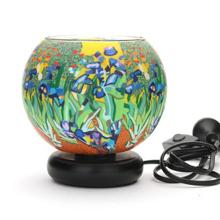 15cm Glass Electric Lamp - Iris
