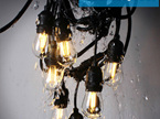 15m Weatherproof Bulb Exchangeable Connectable Festoon Lights