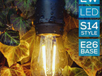 15m Weatherproof High Voltage Bulb Exchangeable Festoon Lights