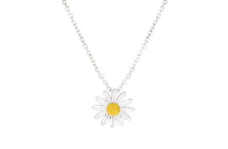 15mm Sterling Silver Daisy Pendant