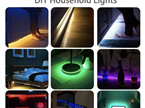 16 Colour USB Plug Strip Lights with Remote Control - 1m, 2m or 3m