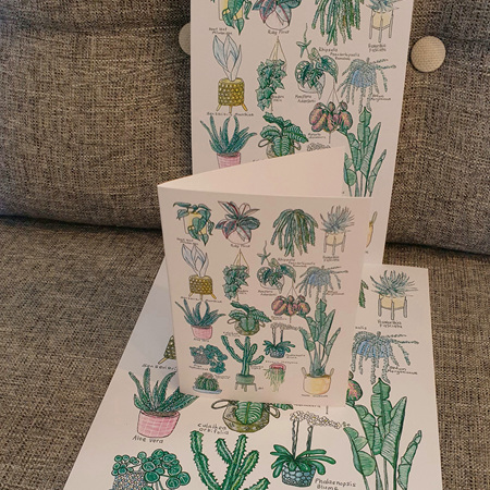 17 Indoor Plants Greeting Card