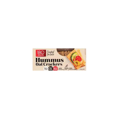180 Degrees Hummus Oat Crackers 135g