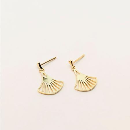 18k Gold Earring - Le Fan