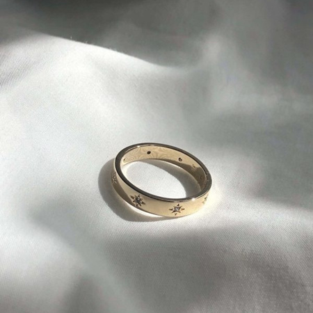 18k Gold Ring - Milky Way