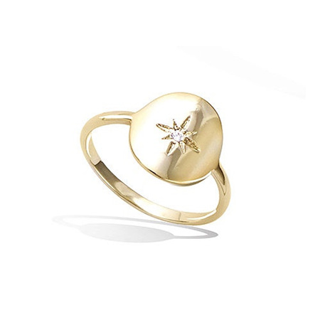 18K Gold Ring - North Star