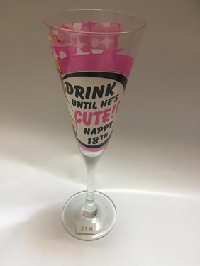 18th Birthday Champagne Glass