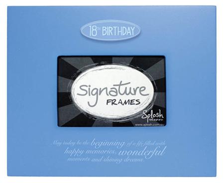 18th Signature Frame - Blue
