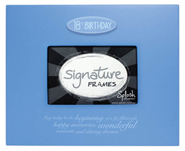 18th Signature Frame - Blue