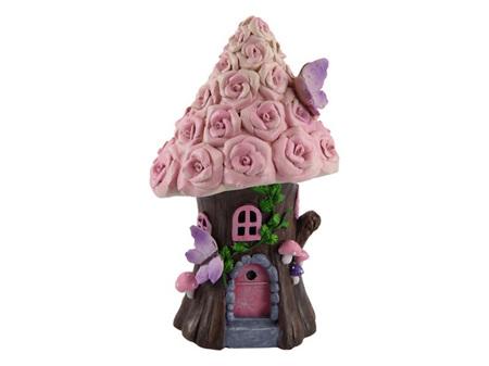 19cm Fairy Garden Rose House
