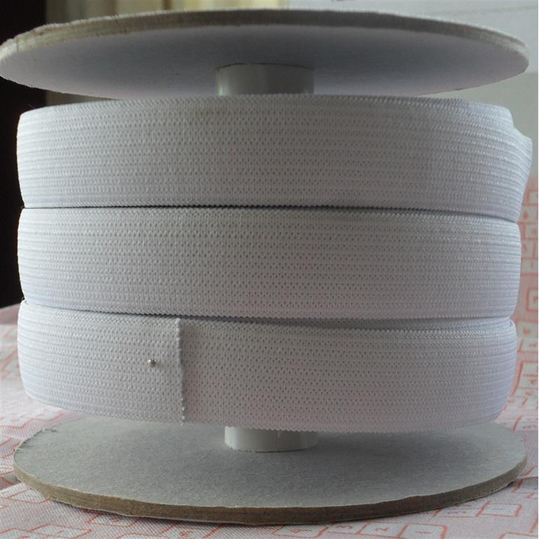 19mm Knit Non-Roll Elastic - White