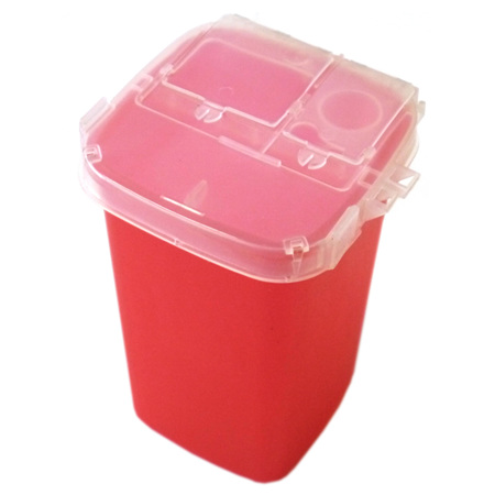 1L Sharps Needles Biohazard Infectious Waste Container