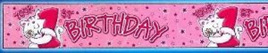 1st Birthday Banner - Pink Kitten