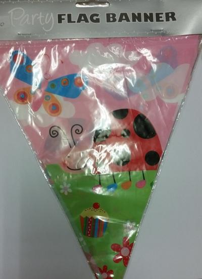 1st Birthday Ladybird flag banner