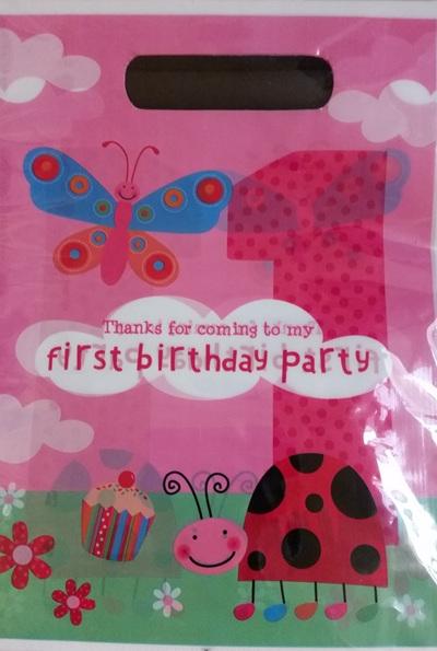 1st Birthday Ladybird Loot Bags x  10