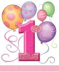 1st Birthday Pink Loot Bags x 8