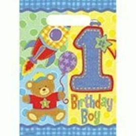 1st Birthday Teddy Loot Bags - Birthday Boy