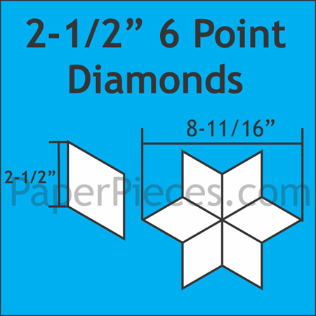 "2-1/2"" 6 Point Diamond Acrylic Template"