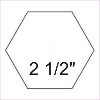 "2-1/2"" Acrylic Hexagon Template"