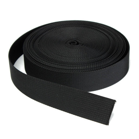 2.5cm Wide Black Nylon Webbing