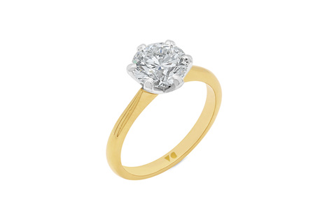 2.01ct Classic Brilliant Cut Diamond Solitaire