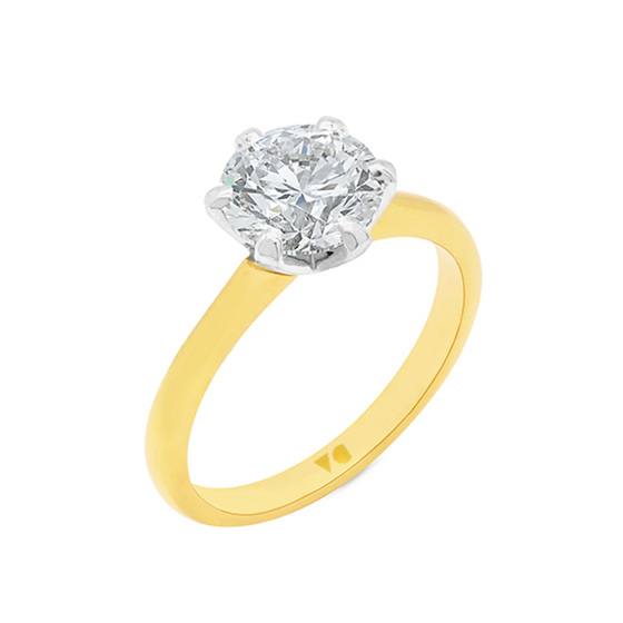 2.01ct Classic Brilliant Cut Diamond Solitaire