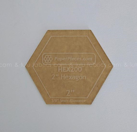 "2"" Acrylic Hexagon Template"