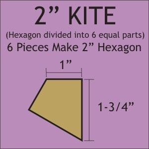 "2"" Hexagon Kite Acrylic Template"