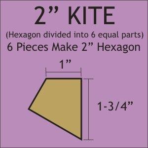 "2"" Hexagon Kite Acrylic Template"