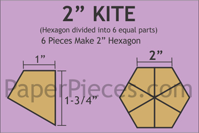 "2"" Hexagon Kites Paper Pieces"