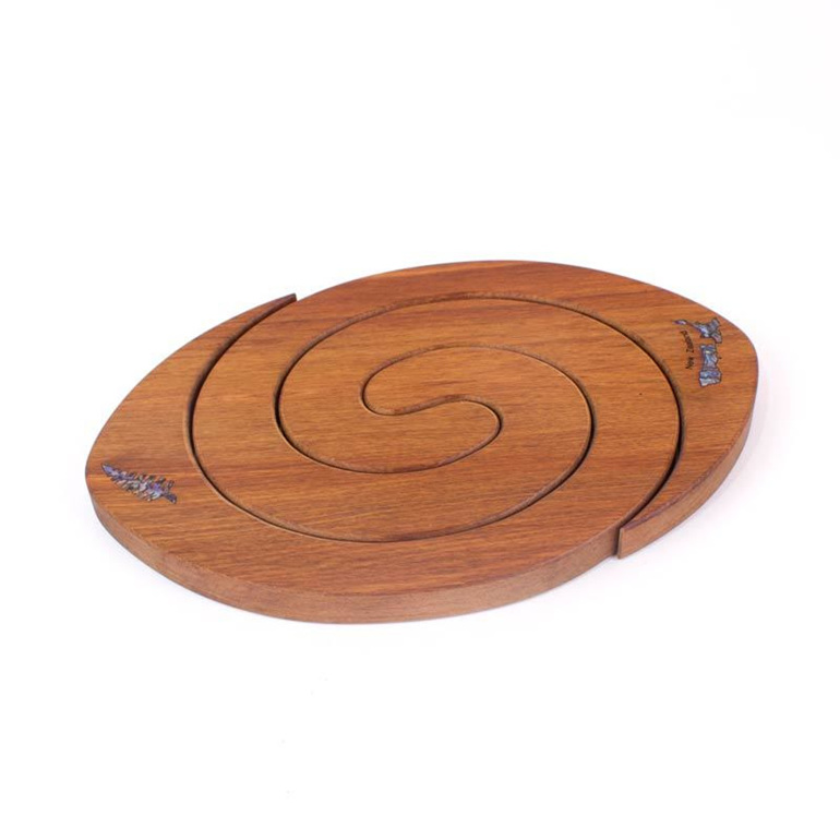 2 in 1 rugby ball table mat with paua rimu