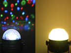 2 in 1 USB Rechargeable Sound Activated Disco Ball with Night Light Mode with Remote Control