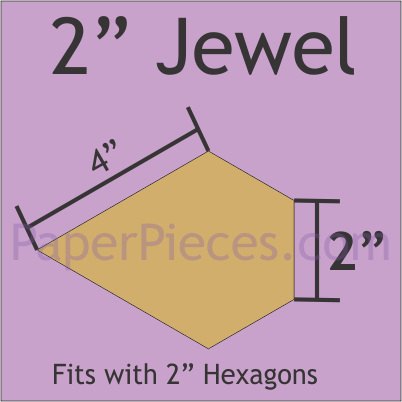 "2"" Jewel - 144 Pieces"