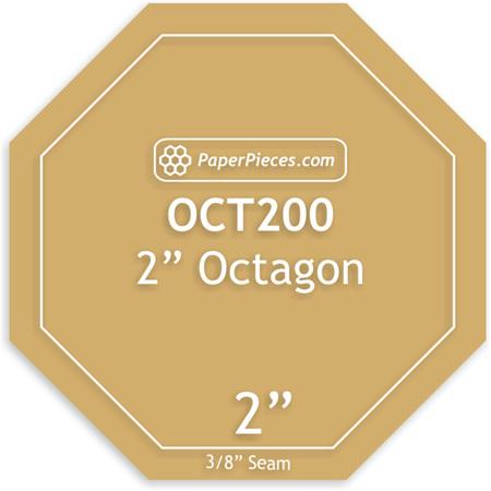 "2"" Octagon Acrylic Template"