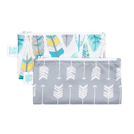 2 pack small snack bag - arrows and feathers