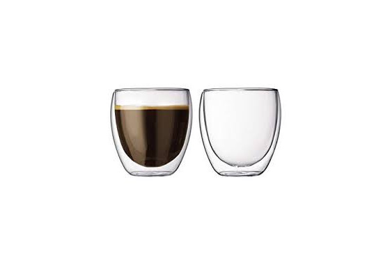 2 pcs double wall tumbler, 0.25l, 8oz - SPECIAL