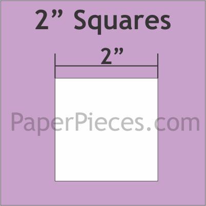 """2"""" Squares Paper Pieces"""
