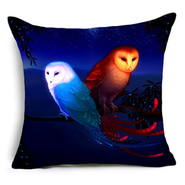 2 Wise Owls Cushion Cover