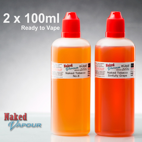 2 x 100ml - Ready to Vape - Naked Vapour e-Liquid