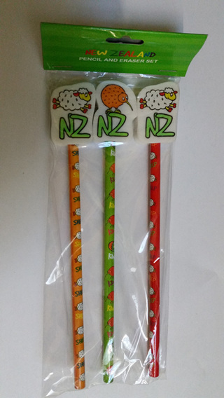 2 x Packs  of 3 Pencils and Rubbers