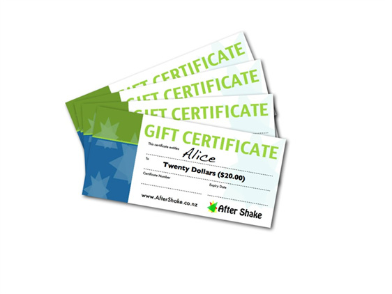 $20 After Shake Gift Certificate