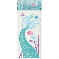 20 cellophane mermaid bags