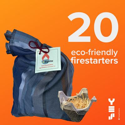 20-pack eco-firestarters