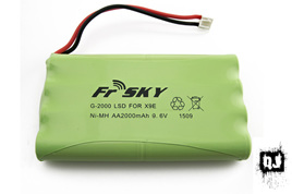 2000mAH AA NiMH Battery pack for Taranis X7