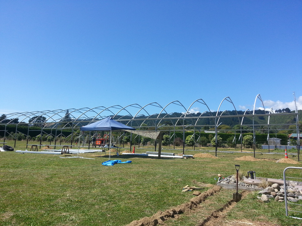 Trusses up, solid structure